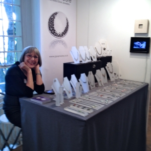 Jane Moore at her stand