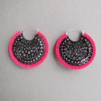 Ciara Bowles Large Black Cell Earrings