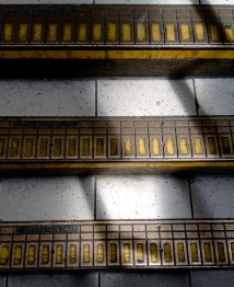 Steps in tube station