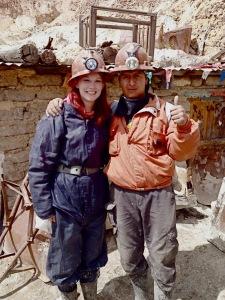 Catherine Hendy and Pedro at Cerro Rico
