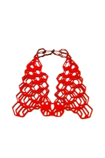 Jelka Quintelier - Black Lune - Faeria Red necklace - laser cut neoprene