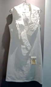 Sheila Roussel white dress, collars and pocket
