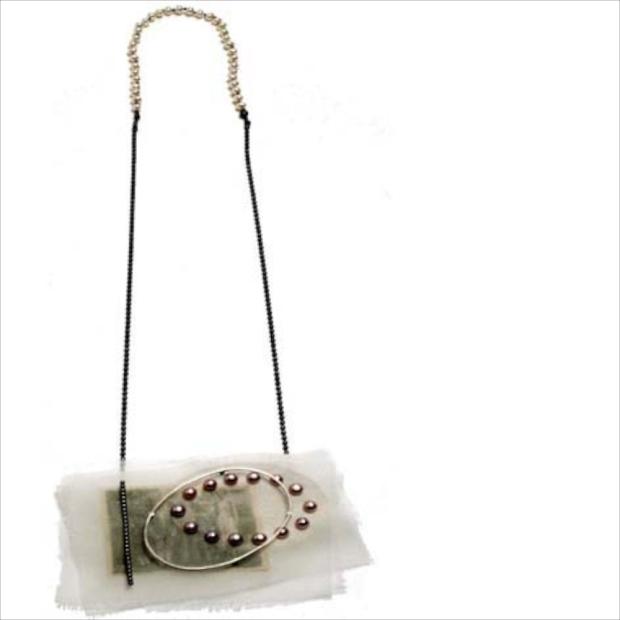 Sheila Roussel silk necklace