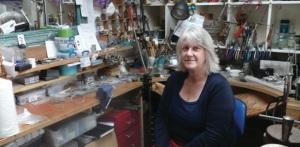 Sarah Macrae in her studio