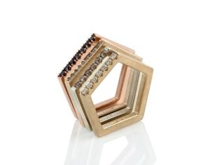 Emma Farquharson gold pentagon rings 2015