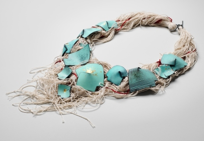 Neckpiece from the 'Currents of Venice' collection, 2015, (photography by Shannon Tofts)