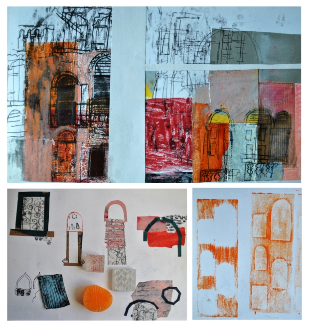 K Baines Sketchbook and test pieces Venice