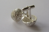 Natalie Adams jewellery silver cufflinks